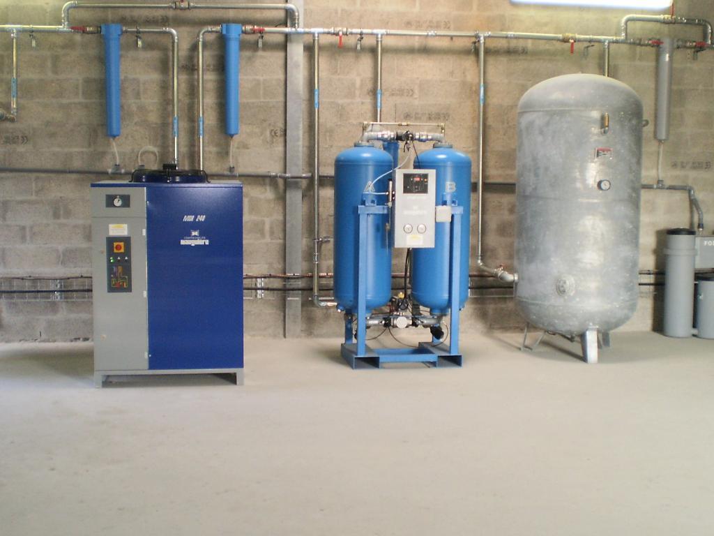Installation air comprimé usine Biodiesel - Limay
